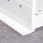 Floor Anchors For Double-Wide Powered Laptop Cabinet