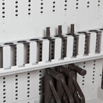 12-Capacity High Density Drop-Down Bracket Weapon Storage Component
