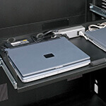 Double-Wide Powered Laptop Drawer With No Lids