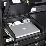 Double-Wide Secure Powered Laptop Drawer