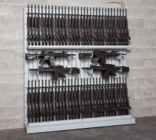 Single-Sided Expandable Weapon Rack With Hi-Density Storage Systems