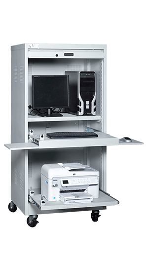 PC-Stor Powered Mobile Computer Storage Cabinet