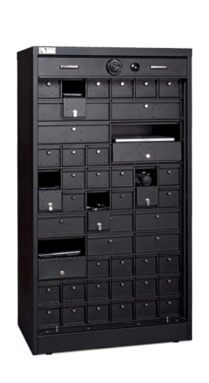 66 Inch High S&G Secure Cabinet With Locking Compartments - National Master Standing Offer
