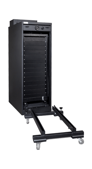 S&G Secure Pro 3 Cabinet Open With Outer Mobile Dolly - National Master Standing Offer
