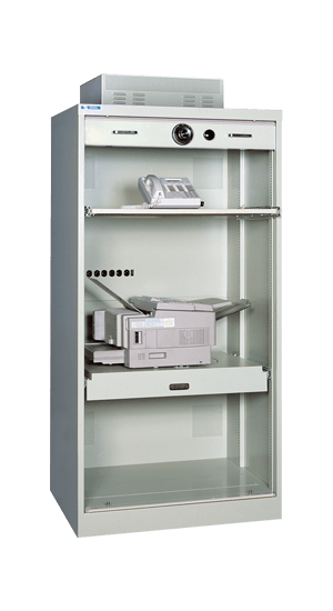 Secure S&G Ultimate PC Cabinet Open With Full Suspension Rotating Shelf - National Master Standing Offer