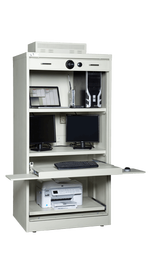 Secure S&G Ultimate PC Cabinet With Workstation Equipment - National Master Standing Offer
