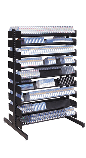 54 in. Double-Sided Media Storage Rack