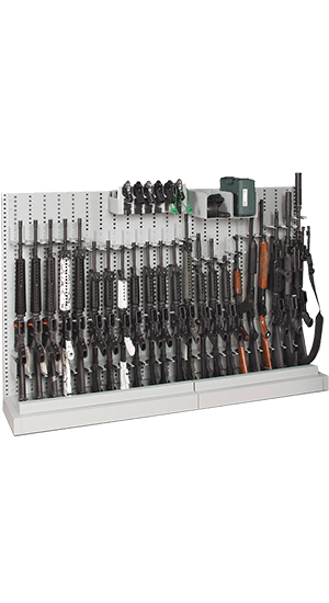 Single-Sided Expandable Weapon Rack Fully Loaded With Long Guns