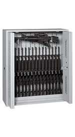 48 Inch High Bi-fold Weapon Rack Open With Firearms