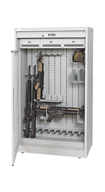 66 Inch Weapon Storage Cabinet Open With Weapon Components