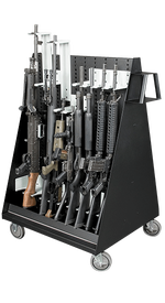 Double-Sided Weapon Storage Mobile Cart